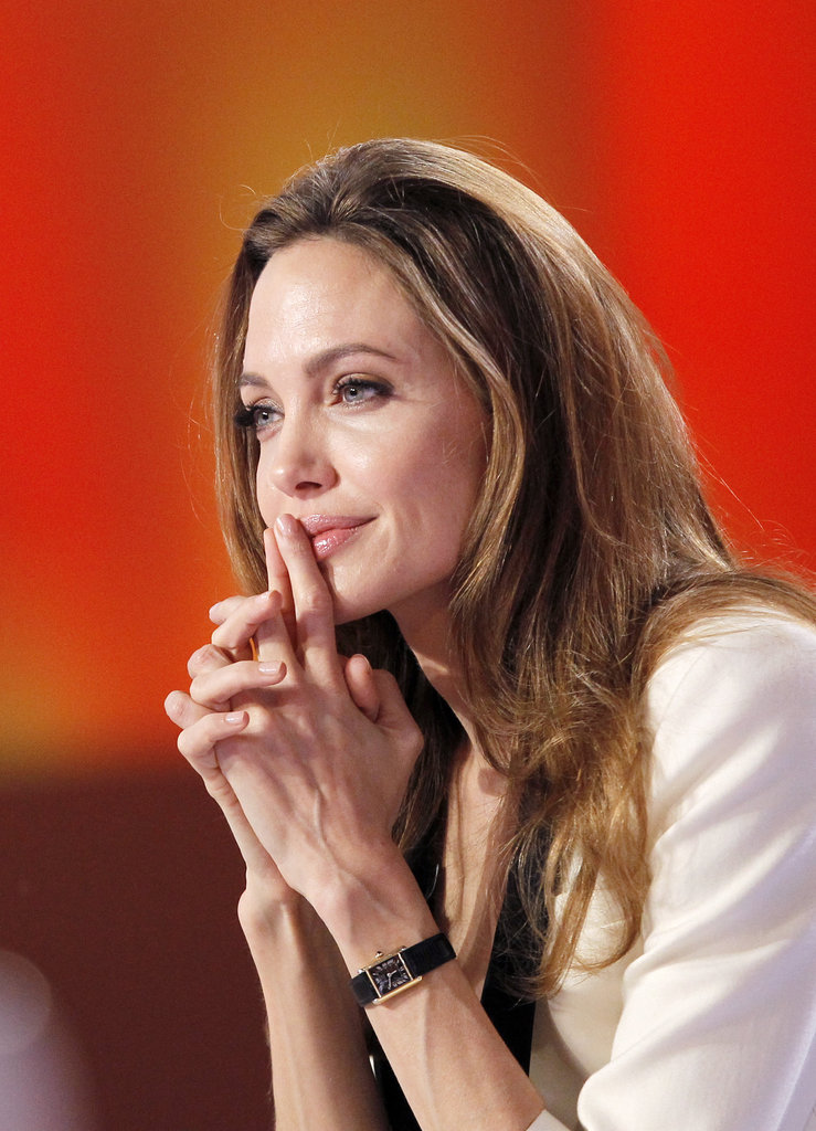 Angelina reflected before answering a question.