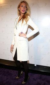 Blake-Lively-wore-white-blazer-dress