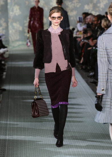 A cropped fur and leather take from Tory Burch.