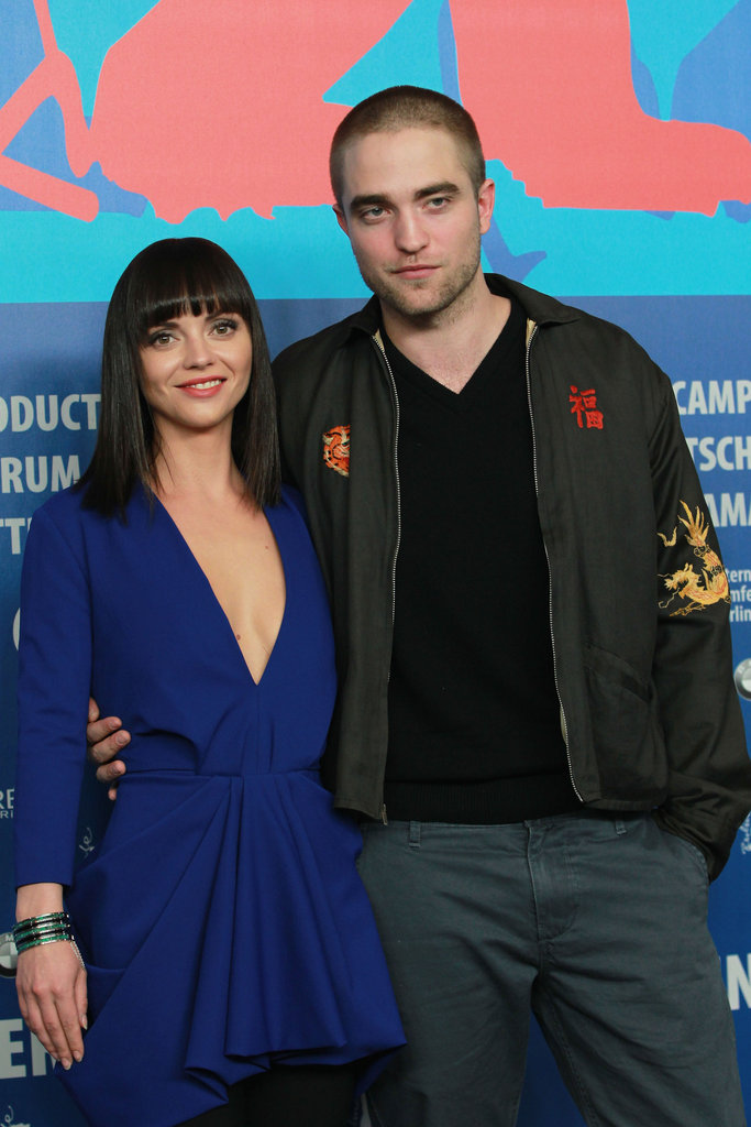 Rob and Christina posed for the press in Germany.
