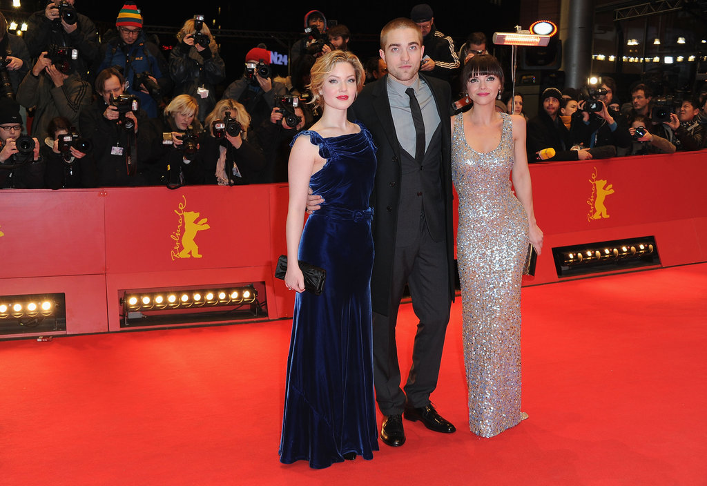 The stars of Bel Ami posed together on the red carpet.