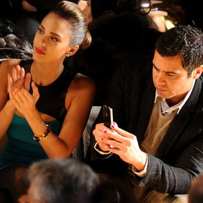Jessica Alba and Cash Warren Wear Matching Manicures at New York Fashion Week