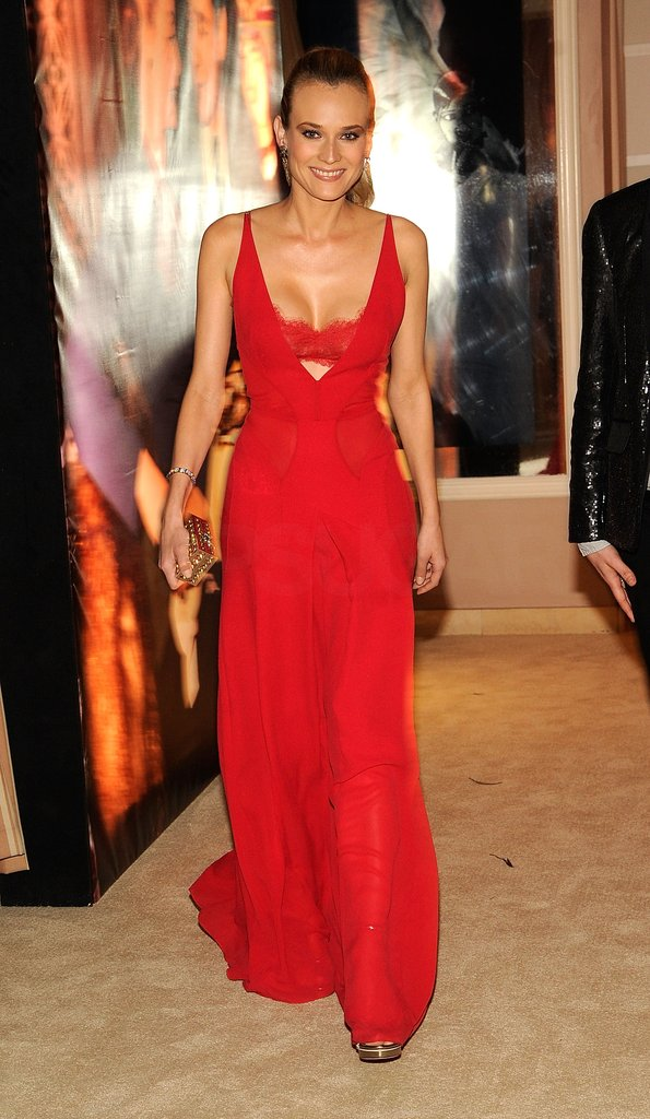 Diane Kruger Goes Super Sexy in Red Bra-Revealing Dress For Vanity Fair Oscars Bash