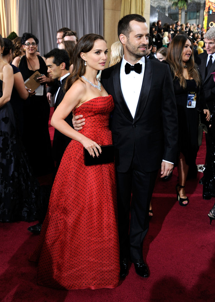 Natalie Portman posed with fiancé Benjamin Millepied.
