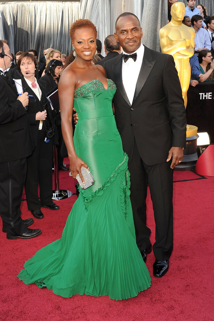 Viola Davis and husband Julian Tennon at the 2012 Oscars.