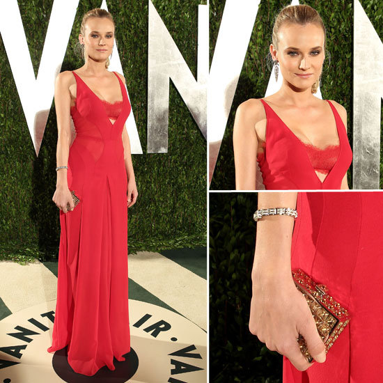 Diane Kruger at Vanity Fair Oscars Party 2012