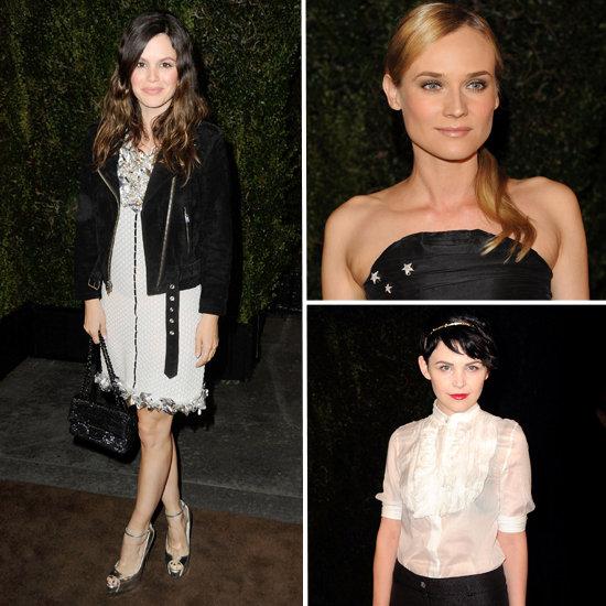 Celebrity Fashion at Chanel Pre-Oscar Party 2012