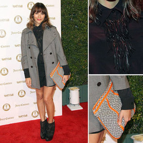 Rashida Jones Black Fringe Necklace
