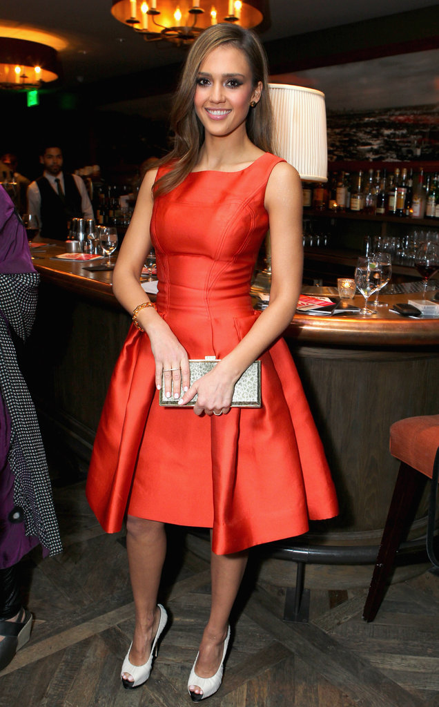 Jessica Alba's statement-red Carolina Herrera dress is the ultimate evening-ready take on the full skirt.