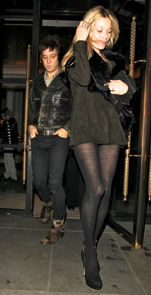 Kate Moss and Jamie Hince left the James Small afterparty.