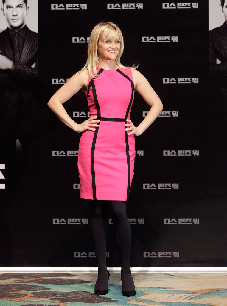 Reese Witherspoon attended a Seoul press conference for This Means War.