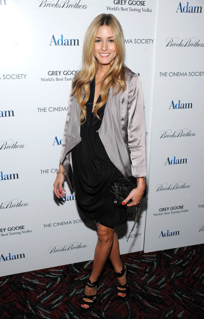 A sophisticated LBD and silky jacket at a film screening in NYC in 2009.
