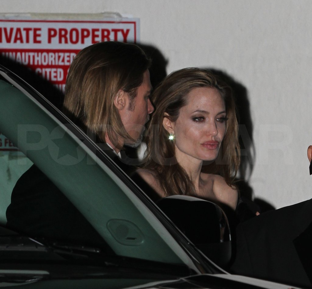 Angelina Jolie and Brad Pitt went to Clooney's Oscars party.