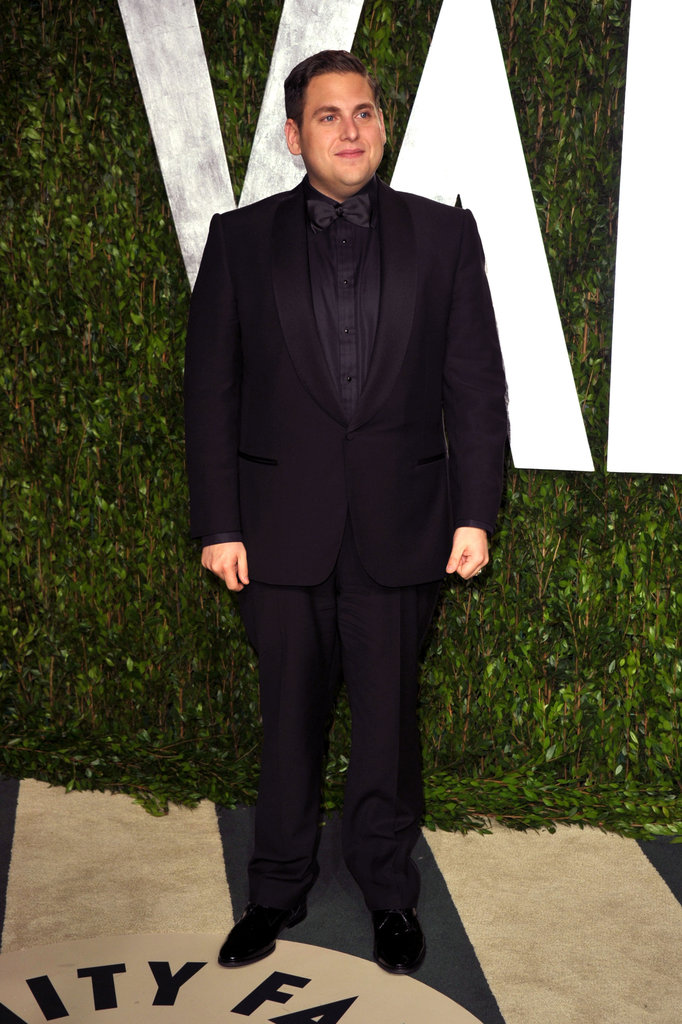 Jonah Hill arrives at the Vanity Fair party.