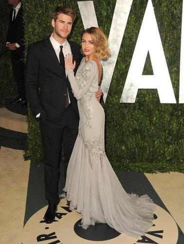 Miley Cyrus and Liam Hemsworth at Vanity Fair.