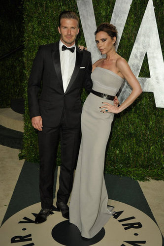 Victoria and David Beckham looking perfect at the Vanity Fair party.