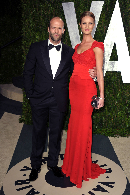 Jason Statham and Rosie Huntington-Whiteley at the Vanity Fair party.