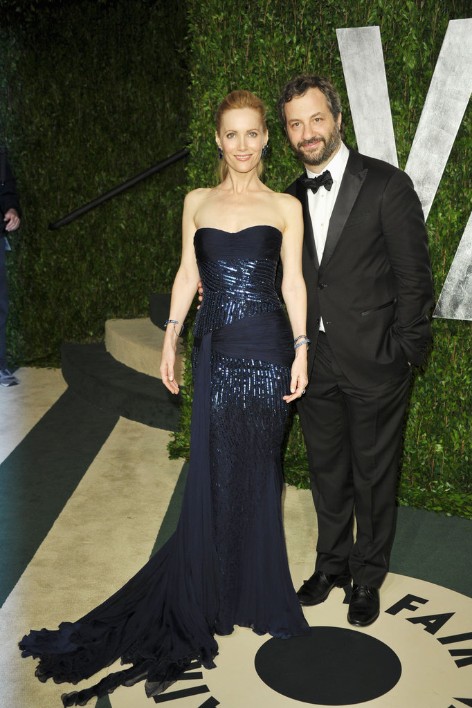 Leslie Mann and Judd Apatow at the Vanity Fair party.