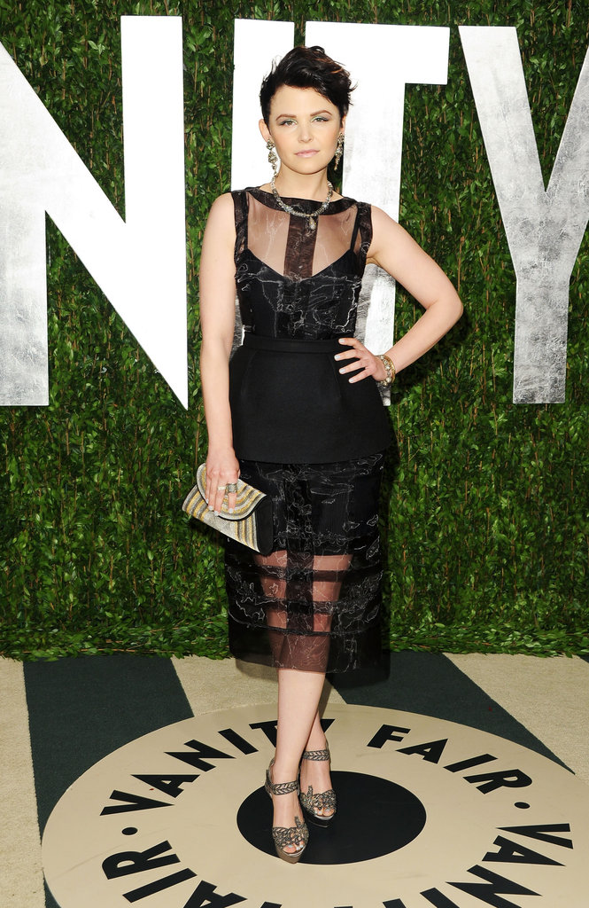 Ginnifer Goodwin showed off a uniquely sexy creation in Peter Som's sheer-inset gown.