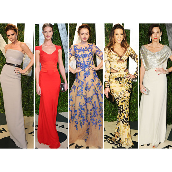 British Beauties Dresses for the Oscars in 2012