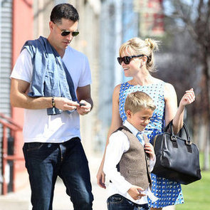 Reese Witherspoon Summer Dress With Deacon and Jim Pictures