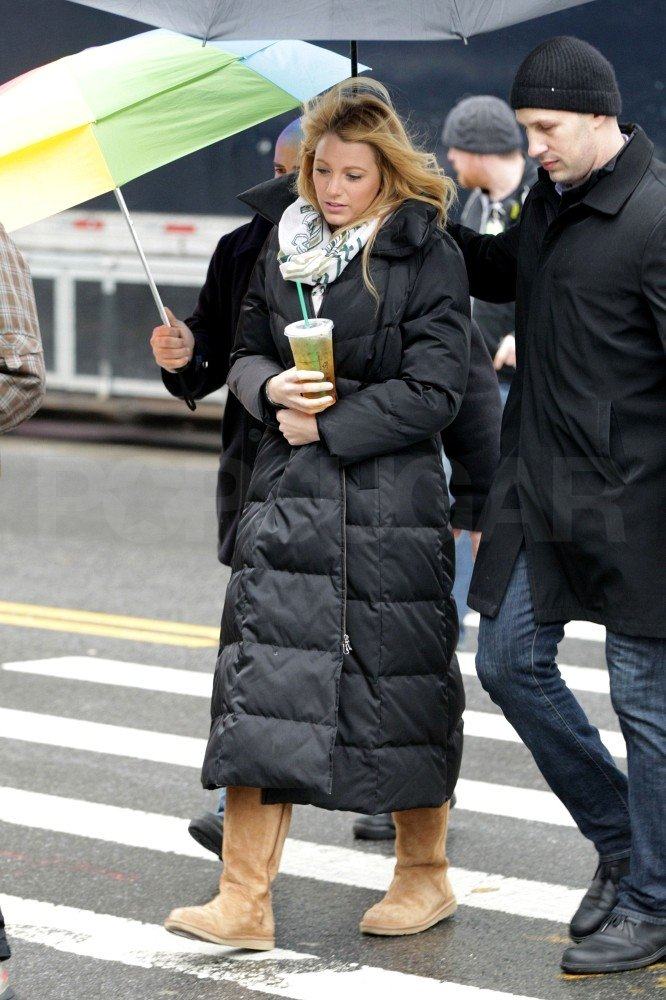 Blake Lively shot Gossip Girl on a cold NYC day.