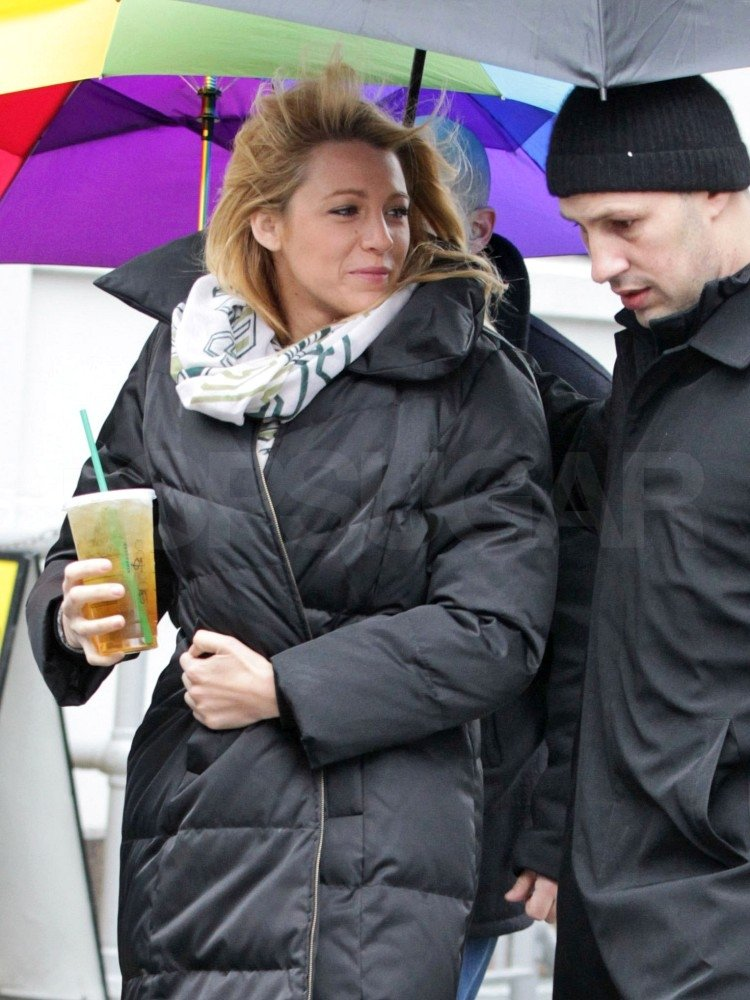 Blake Lively was on the Gossip Girl set.