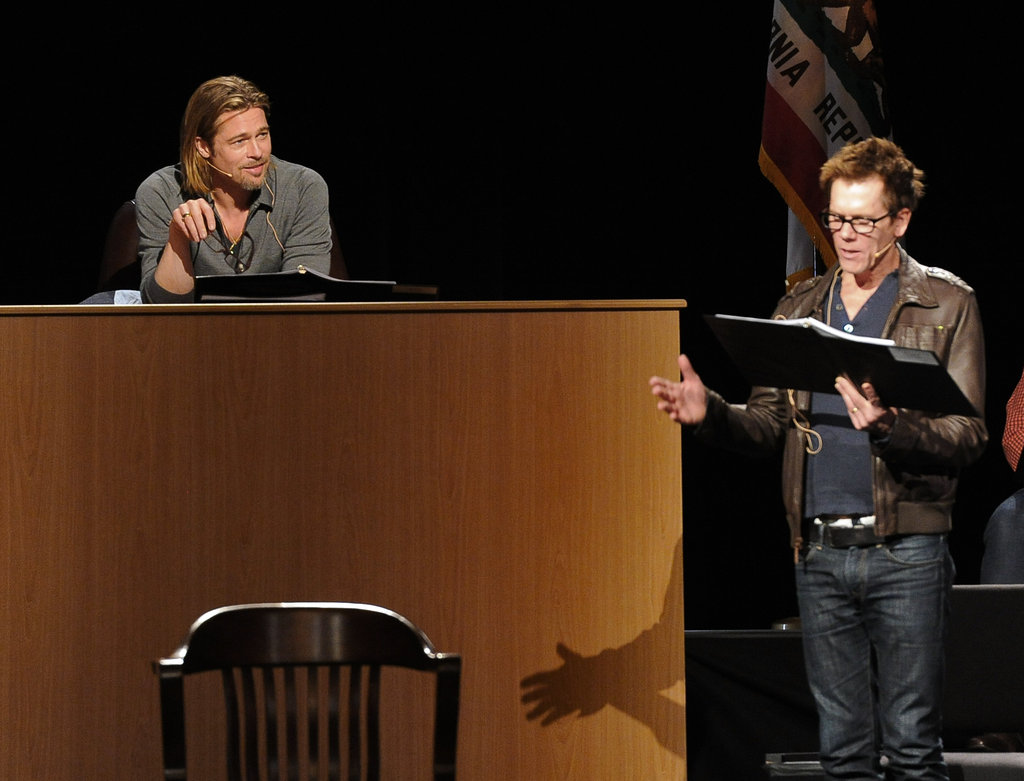 George Clooney and Brad Pitt Team Up For Live Prop 8 Play Performance