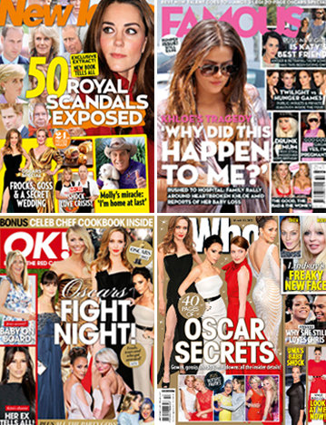 Australian Weekly Magazine Round Up for March 12th 2012 With New Idea, Famous, Woman's Day and Who