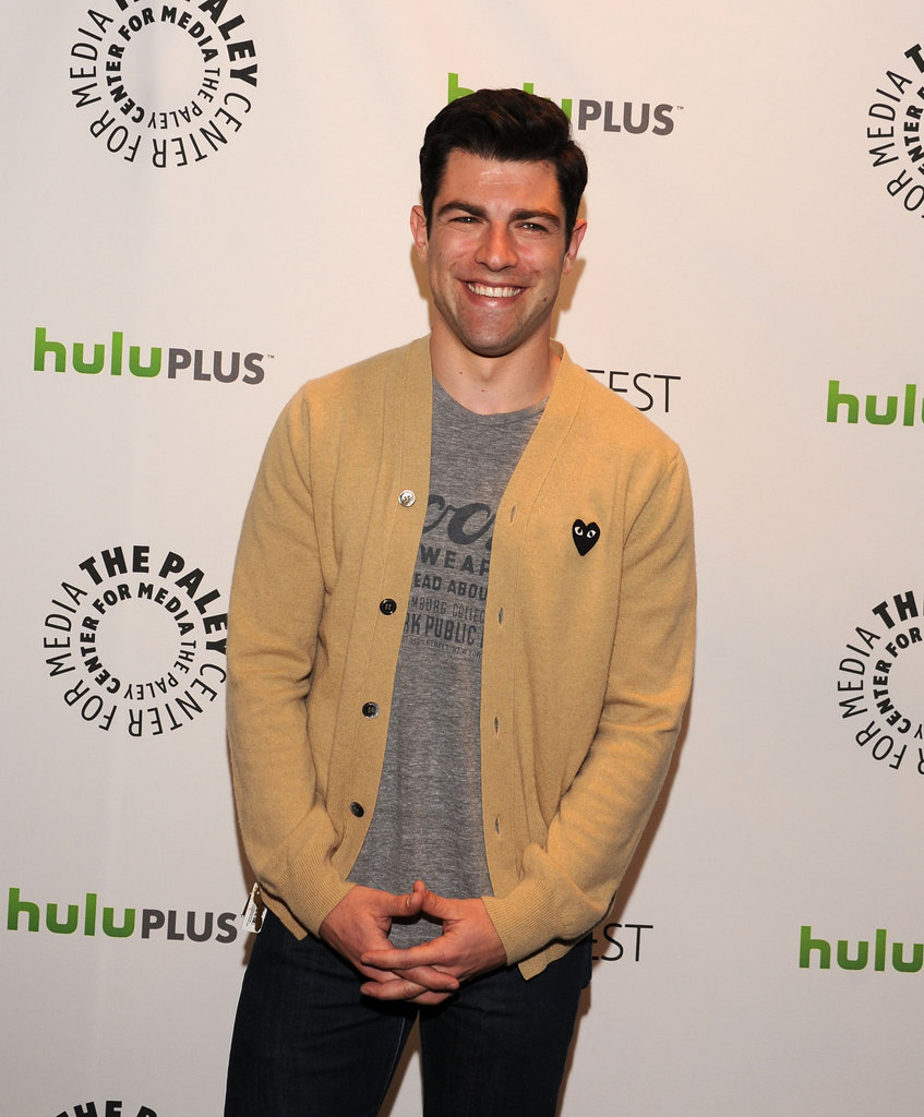 Max Greenfield joked about his numerous shirtless scenes.