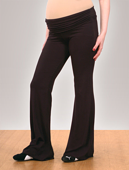 Splendid Fold Over Belly Jersey Knit Ruched Yoga Pants