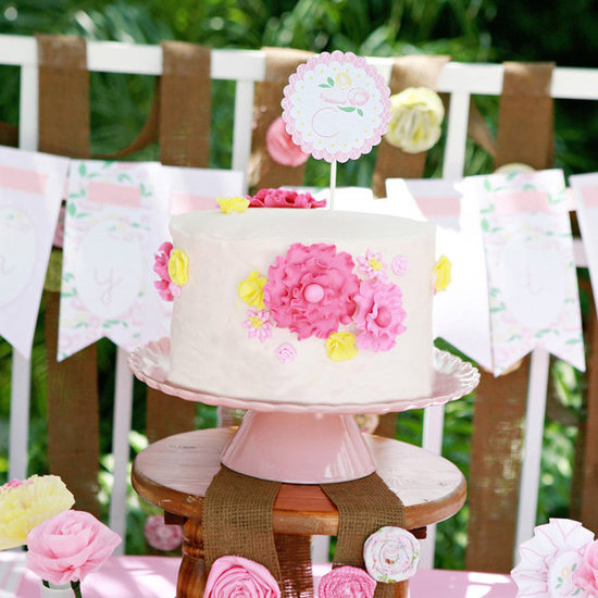 Pink Floral Kids Birthday Party