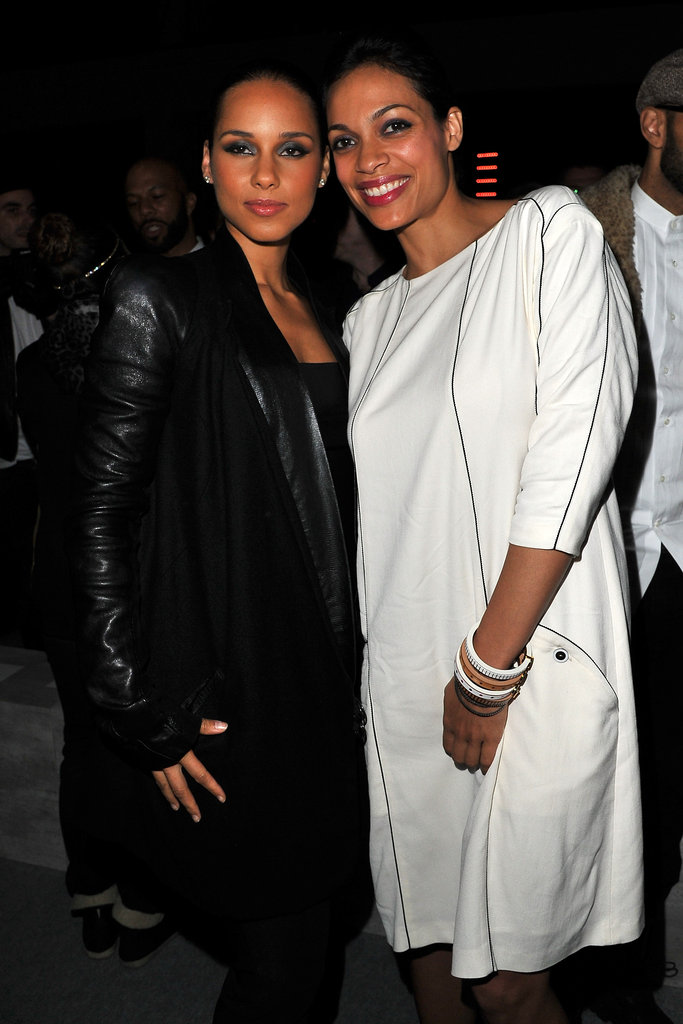 Alicia Keys and Rosario Dawson at Kanye West