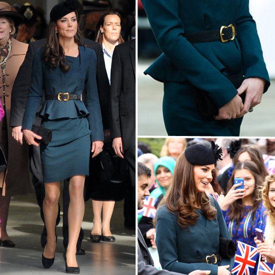 Kate Middleton in L.K. Bennett Peplum Suit