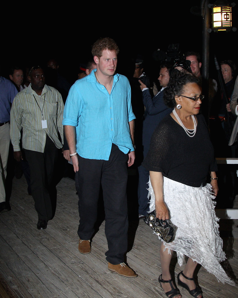 Prince Harry partied in Jamaica.