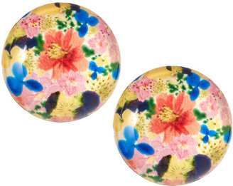 Pair these oversized studs with a simple white dress for a fun pop of color.  ASOS Floral Earrings ($13)
