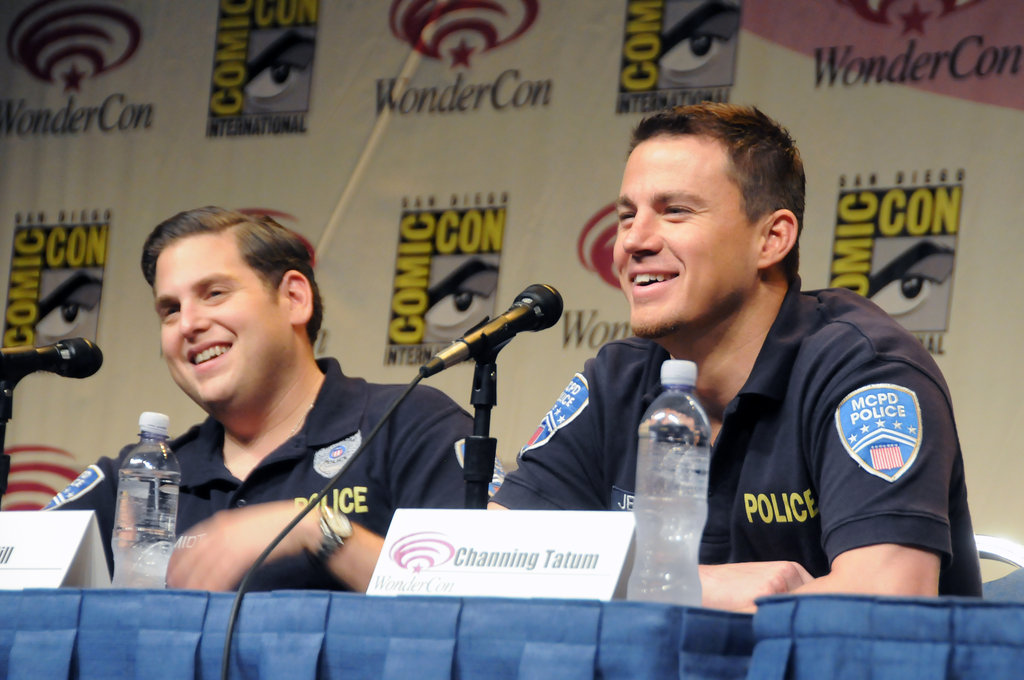 Jonah Hill with Channing Tatum at WonderCon.