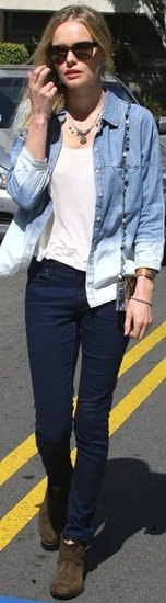 Kate Bosworth Ombre Denim Shirt