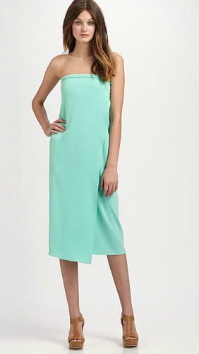 Tibi matte jersey strapless dress ($420)