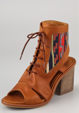 """This tribal-meets-ikat print screams """"wear me to a music festival,"""" right? Pair these with cutoff shorts and a soft vintage tee for a total rocker-inspired look. Miista Andrea bootie ($250)"""