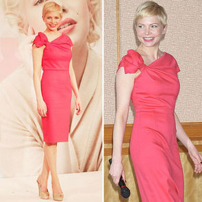 Michelle Williams is Pretty in Pink Valentino at the Tokyo My Week with Marilyn Press Conference: Shop Her Cool Shift!