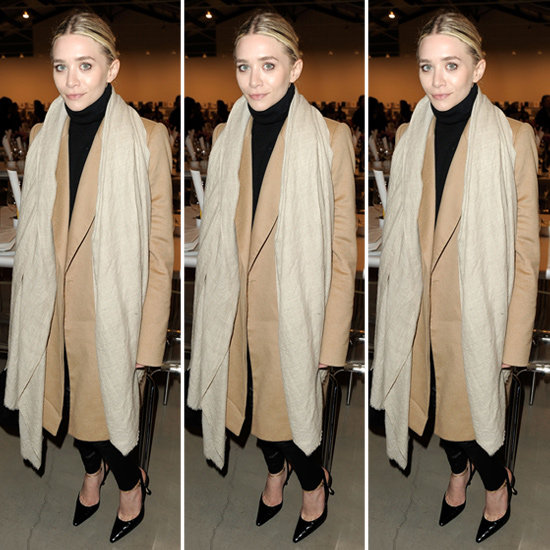 Ashley Olsen Camel Coat