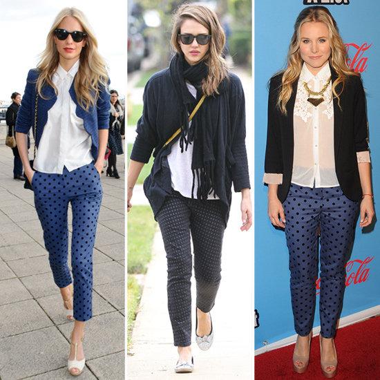 Jessica Alba Polka Dot Jeans