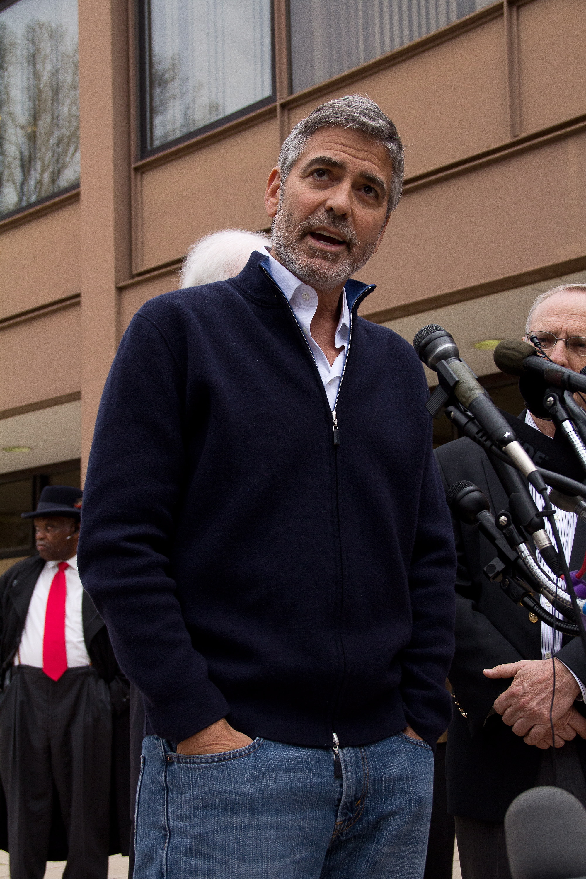 """George Clooney Jokes About His Arrest, Says Stacy Keibler Is """"Probably Thrilled"""""""