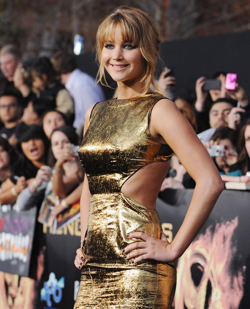 Jennifer Lawrence's Prabal Guring dress showed off her svelte curves.