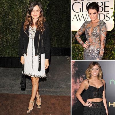 Celebrities Wearing Floral Applique Dresses 2012