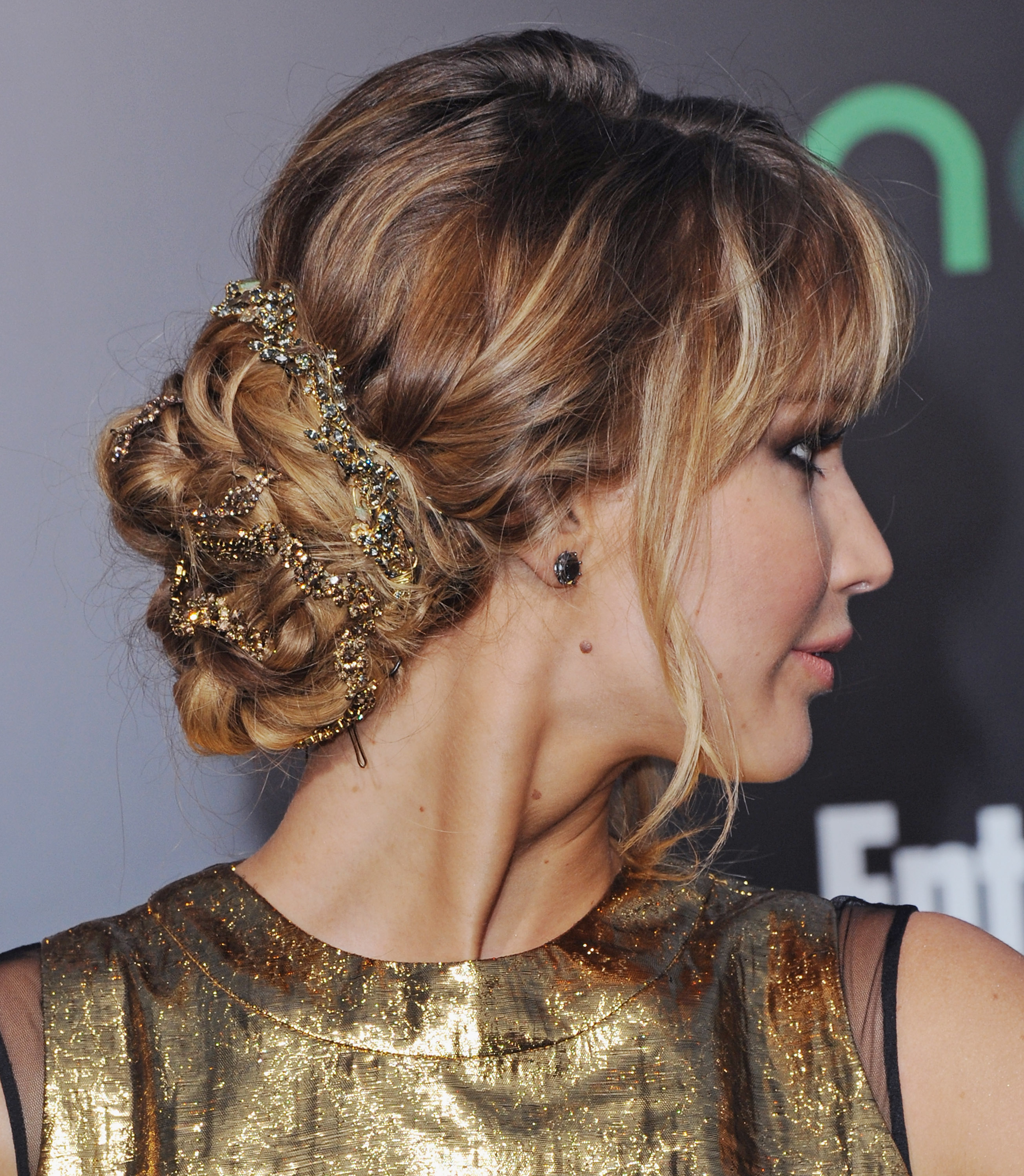 We loved Jennifer Lawrence's intricately braided bun.