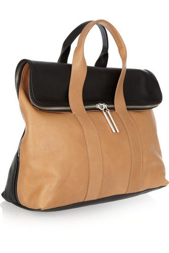 3.1 Phillip Lim | 31 Hour two-tone leather tote | NET-A-PORTER.COM