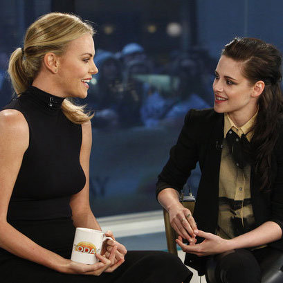 Kristen Stewart and Charlize Theron on the Today Show
