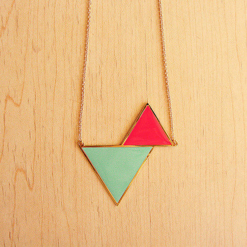Image of Twin Triangle Necklace